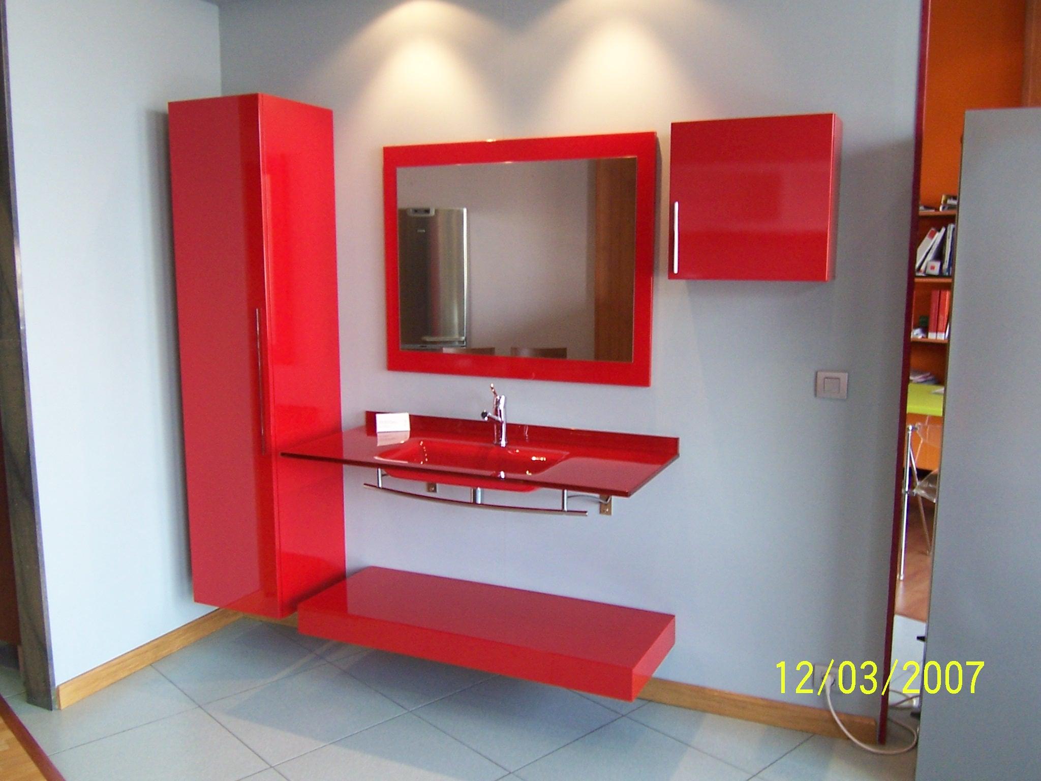 Baños Modernos Rojos:Baños – Muebles de cocina Fegigar